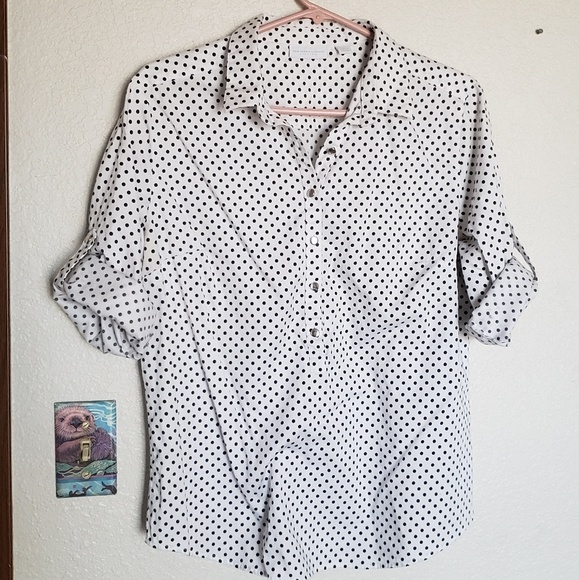 New York & Company Tops - Polka dot blouse